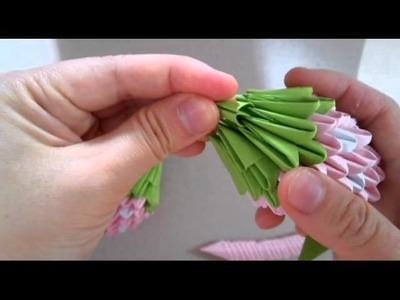 3D origami bigger strawberry