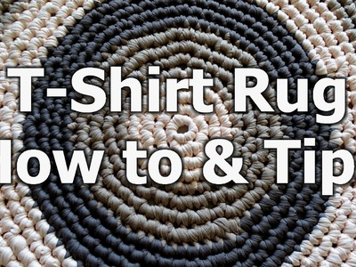 Crochet T Shirt Yarn Rug - How to & tips - Left Handed Crochet Tutorial