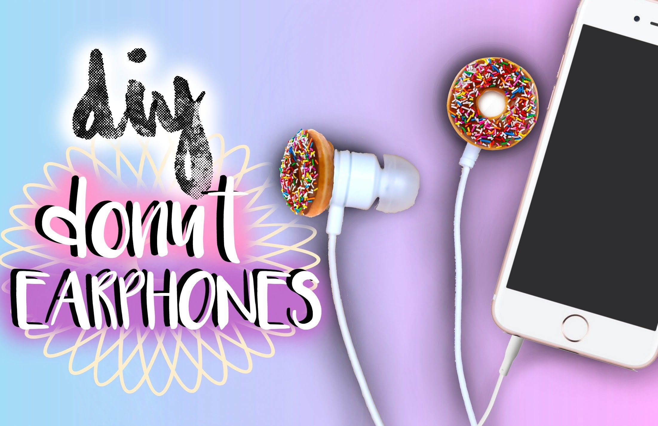 DIY Donut Earbuds.Earphones | Tumblr Inspired | JENerationDIY