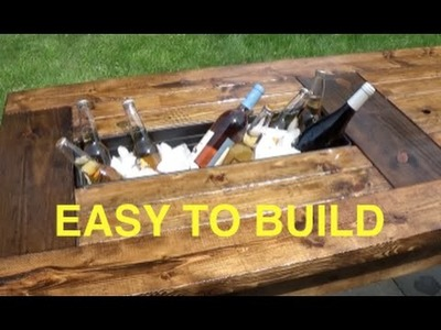 HOW TO BUILD A FARMHOUSE TABLE WITH BUILT IN COOLERS - COMPLETE AND EASY PLAN