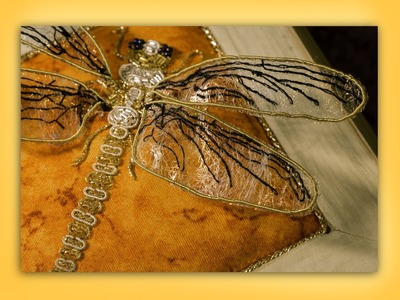How to embroider goldwork.stumpwork insect wings