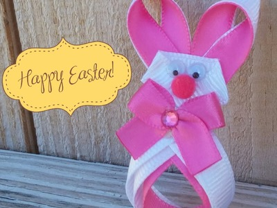 "HOW TO: Make a ""Easter Bunny"" Hair-Clip"