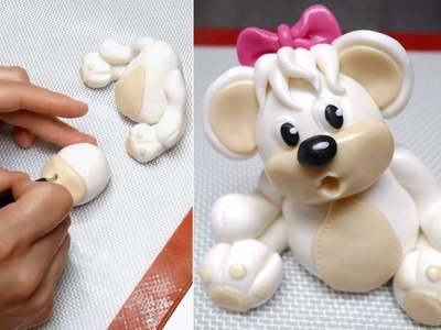 How To Make A Teddy Bear Fondant Figure by CakesStepbyStep.