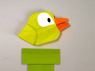 How to make an origami Flappy bird (Flappy bird game) (Henry Phạm)