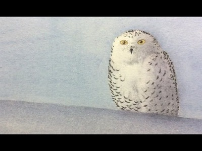 How to Paint an Owl with Watercolor - Make an Original Xmas Card
