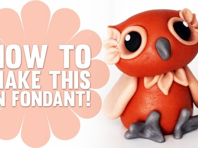 Learn how to make a cute Fondant Owl - Cake Decorating Tutorials