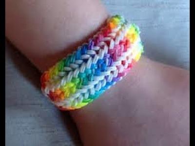 Loom Bandz Anleitung Deutsch. Rainbow Loom. Loom bands Armband