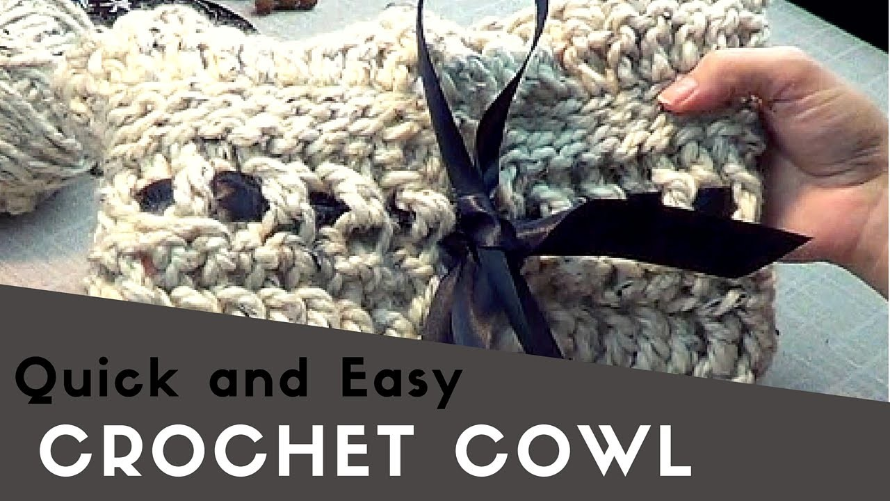 Quick and Easy Croche Cowl