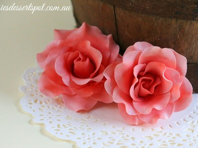 Quick and Easy Gumpaste Rose Tutorial