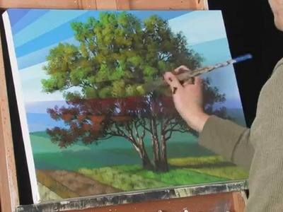 Time Lapse Acrylic Landscape Painting Video Rays of Time by Tim Gagnon