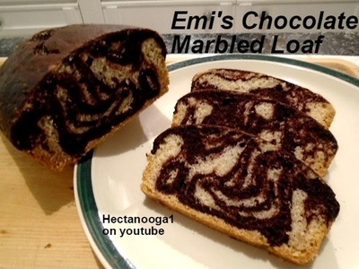 Chocolate Marble Loaf recipe, vegan, one bowl, quick and easy, video# 1148