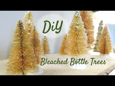 DIY BLEACHED BOTTLE BRUSH TREES | Quick + Easy!