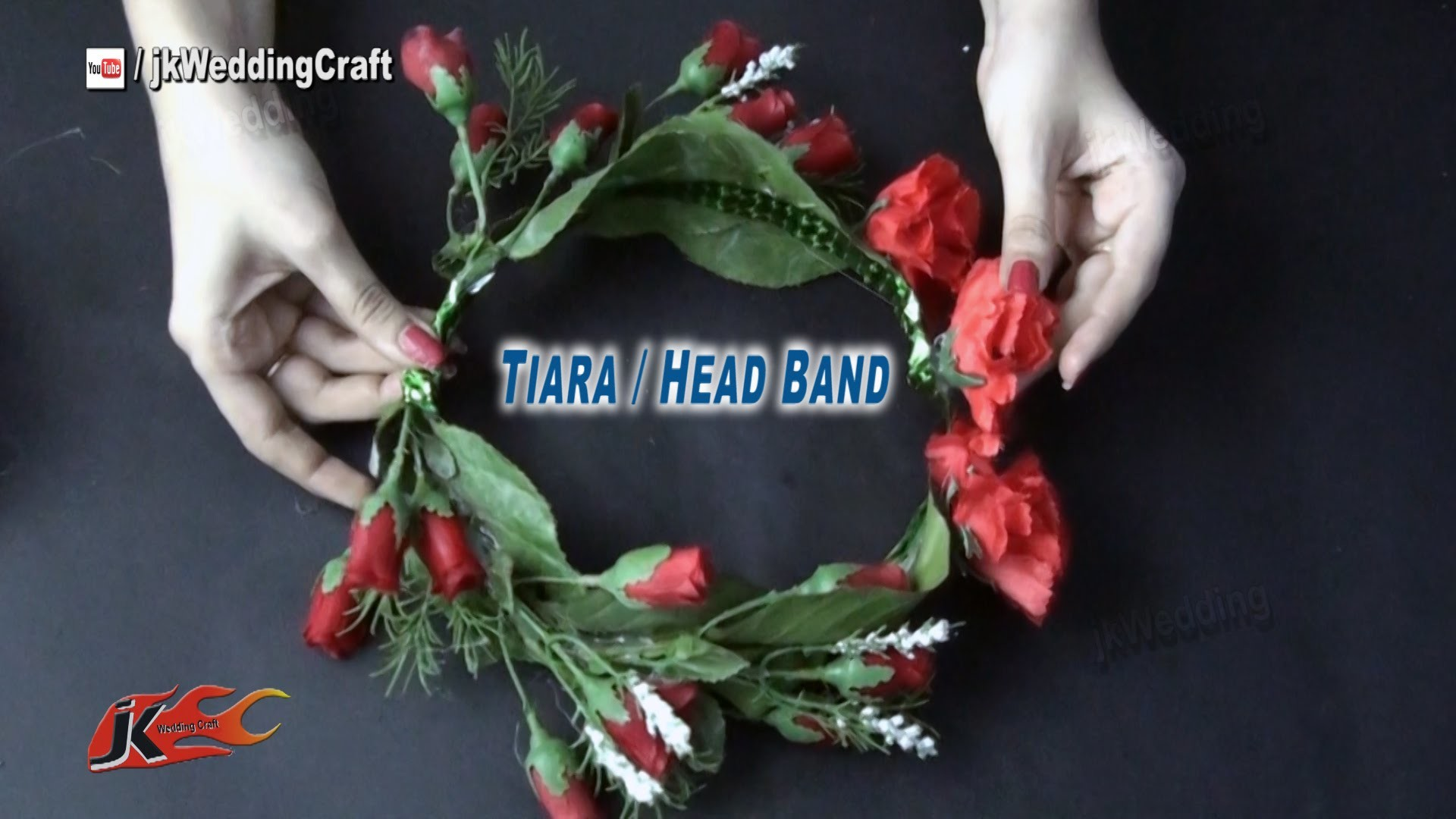 DIY Flower Tiara. crown | Wedding hair accessories | How to make - JK Wedding Craft 030