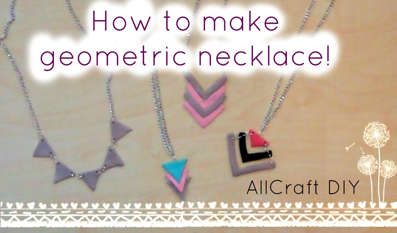 DIY.Geometric necklace!