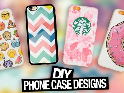 DIY Phone Case Designs | Tumblr, Starbucks, Emoji & more!