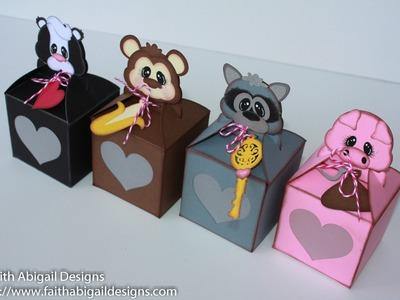 Faith Abigail Designs - Valentine's Day Critter Treat Boxes