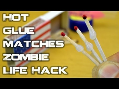 Hot Glue Matches - Instant Glue In 5sec Lifehack