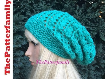 How To Crochet a Slouchy Hat Pattern #34│by ThePatterfamily