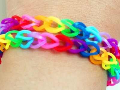 How to make rubber band bracelets with a clothing pin in 3 minutes