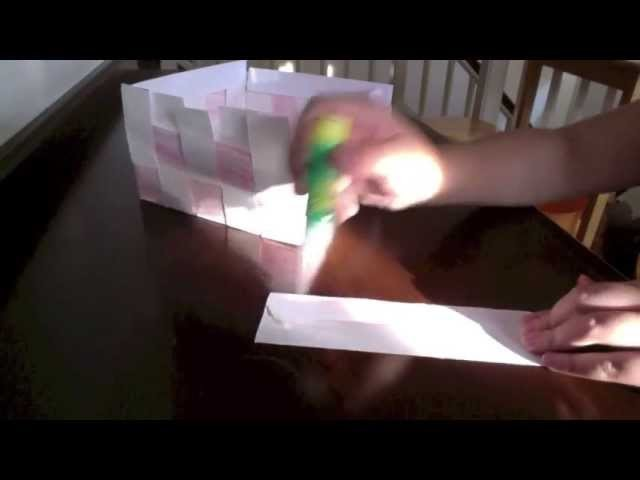 How to Weave Paper Basket