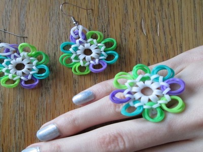 Mod Medallion Earrings and Ring (Cap Band Version, Original Designs)