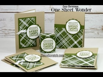 One Sheet Wonder featuring Cozy Christmas with Stampin' Up!