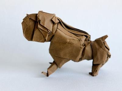 Origami bulldog by Quentin Trollip