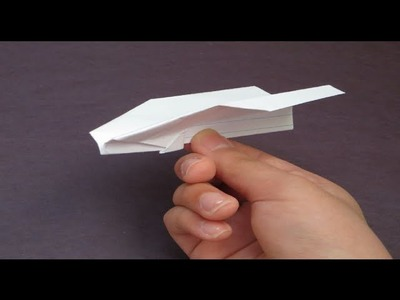Origami: How To Make A Miniature Flying Paper Airplane (Index Card)
