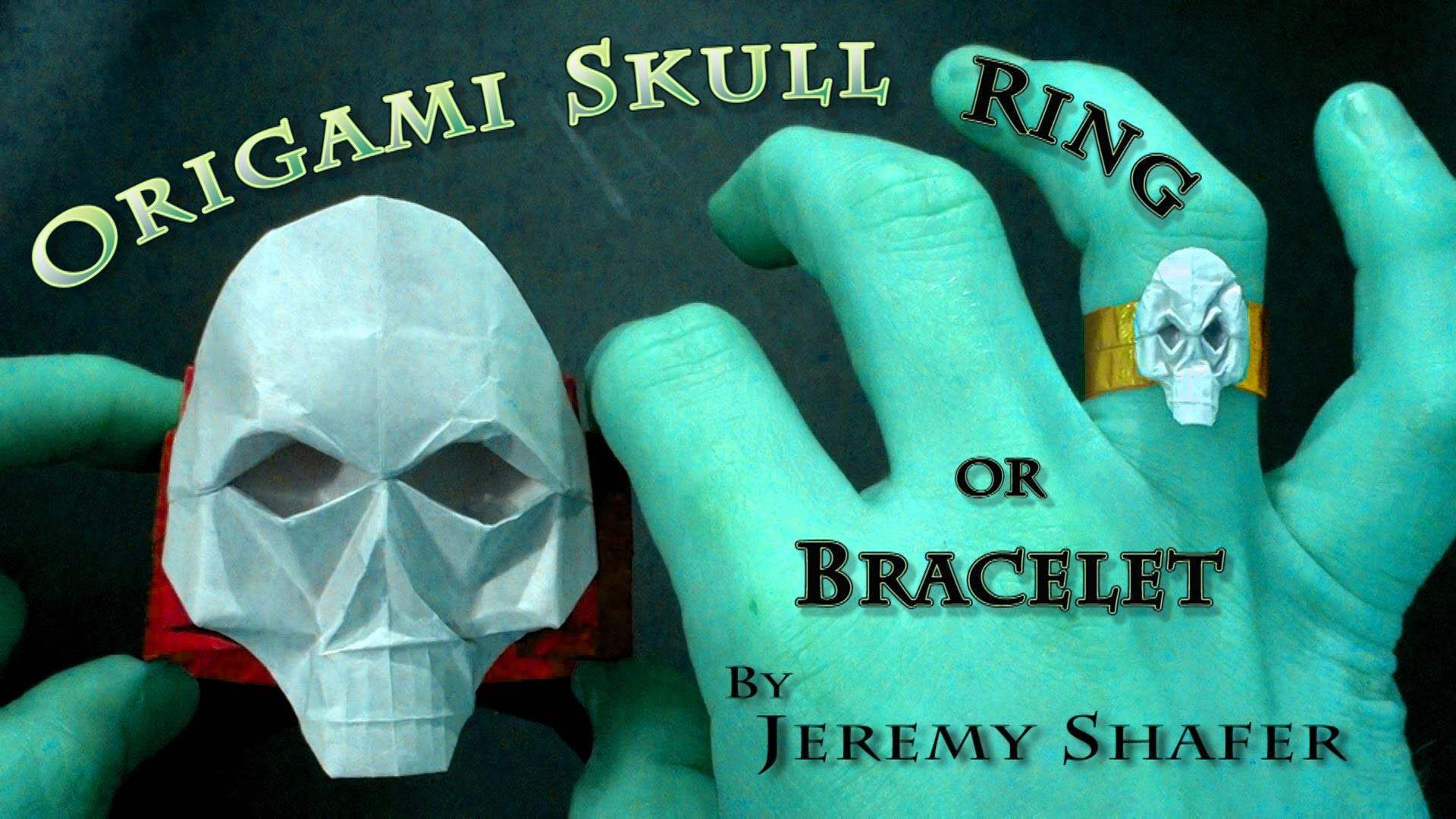 Origami Skull Ring. Bracelet