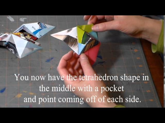 Polyhedron Origami Ball or Star Tutorial Unit Instructions Octahedron and Icosahedron