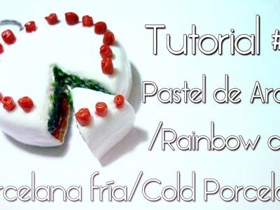 Porcelana fría.Cold Porcelain Tutorial #01 Pastel Arcoiris.Cake Rainbow