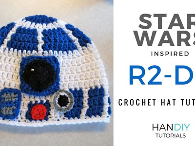 R2-D2 Droid Crochet Hat Tutorial inspired by Star Wars