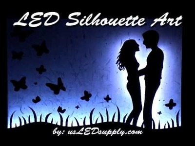 RGB LED Silhouette Art Project Wall Picture