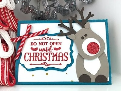 Simply Simple Rudolf the Reindeer Gift Card Holder by Connie Stewart