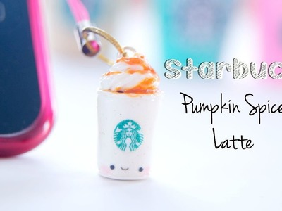 Starbucks Pumpkin Spice Latte Dust Plug | Polymer Clay Tutorial