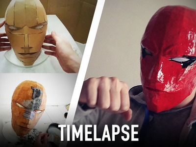 Timelapse - Making RedHood Helmet | Costume Prop | How To | Dali DIY