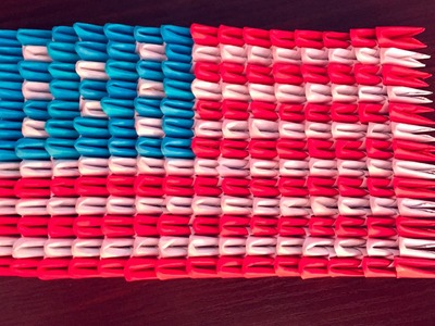 3D origami USA Flag Tutorial