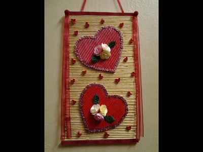 Best Out Of Waste Paper Twin Heart Wall Hanging Part 3