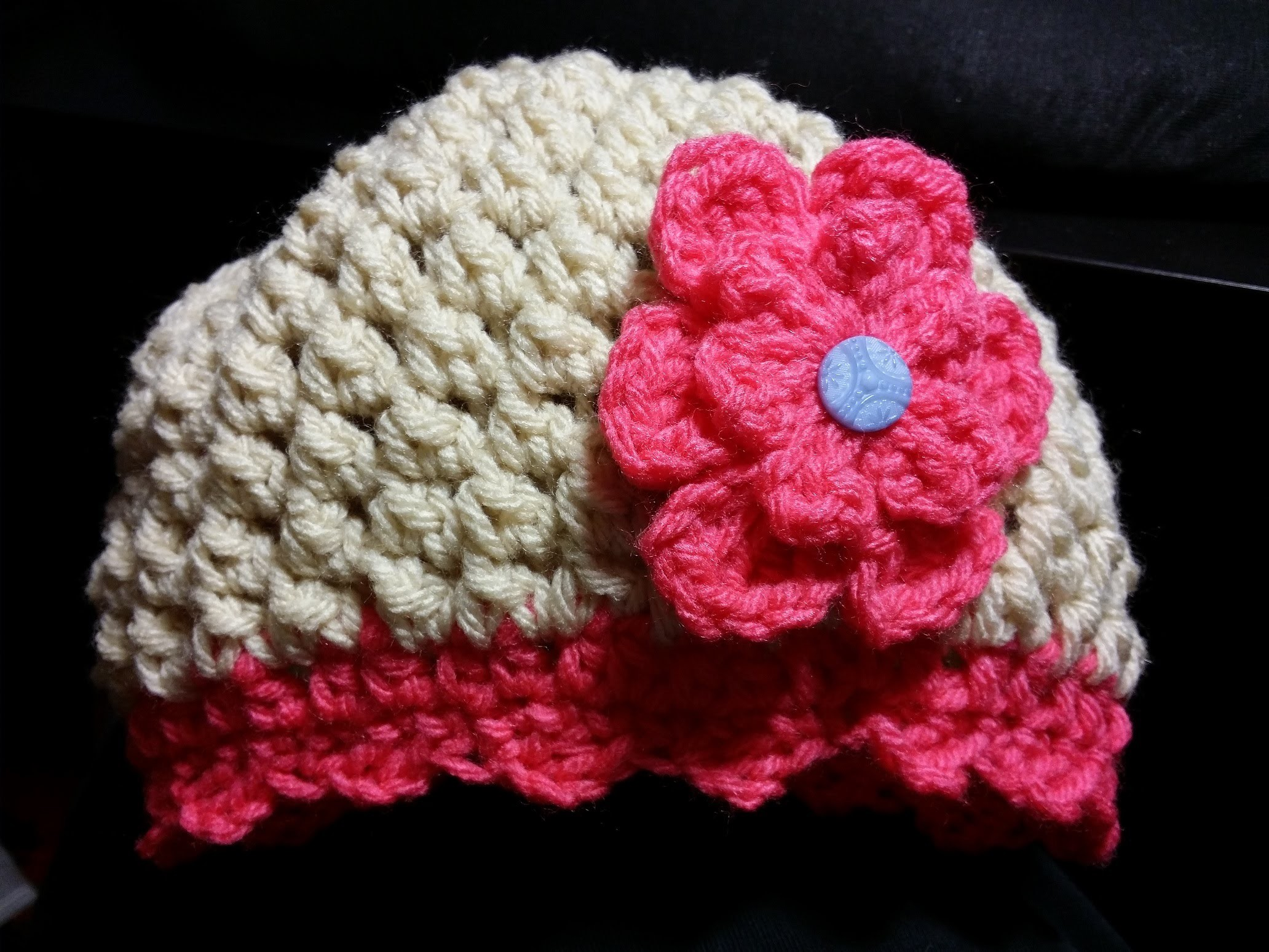 Butterfly Stitch Baby Hat Tutorial