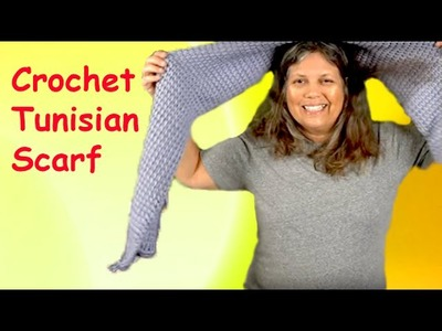 Crochet Tunisian Scarf - How to Make