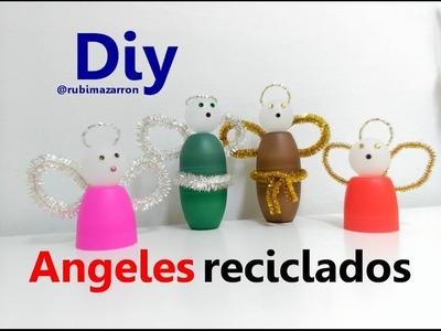 Diy. Angeles reciclados de  roll-on   ( desodorantes)