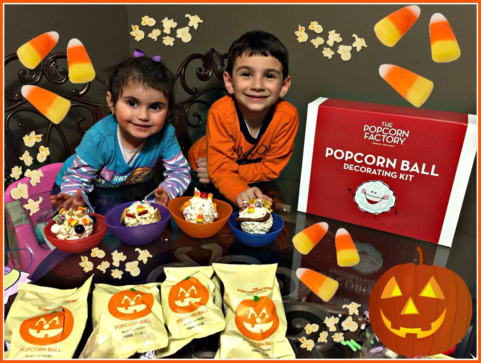 DIY Halloween Popcorn Ball Decorating Kit! Candy Corns, Tootsie Rolls & more!