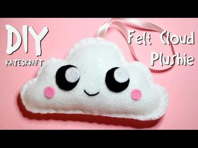 DIY | Kawaii Felt Cloud Plushie