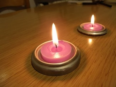 Diy .Portavelas casero con material recyclado, Handmade candle holder with recycled material.