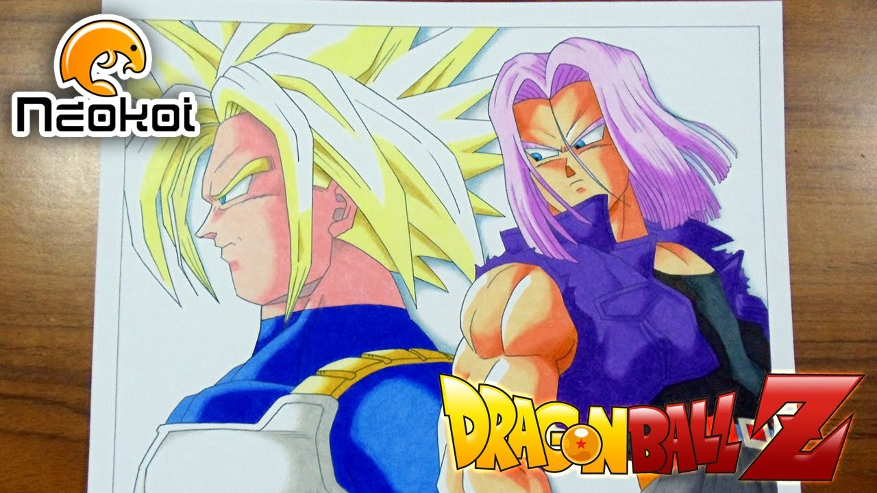 Drawing Future Trunks - Dibujando a Mirai Trunks (Dragon Ball Z)