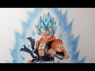 Drawing Gogeta Super Saiyan Blue | Super Saiyan God Super Saiyan