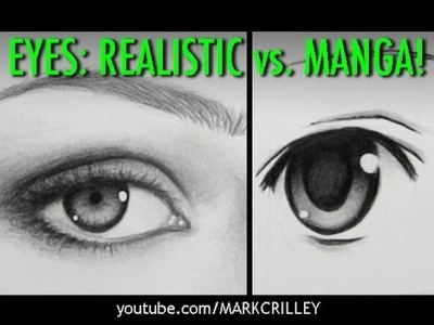 Drawing Time Lapse: Real Eyes vs. Manga Eyes