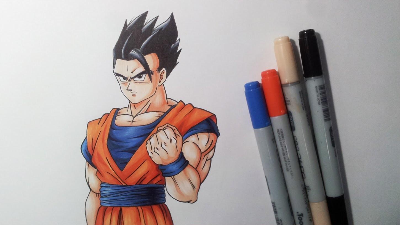 Drawing Ultimate Gohan AKA Mystic Gohan