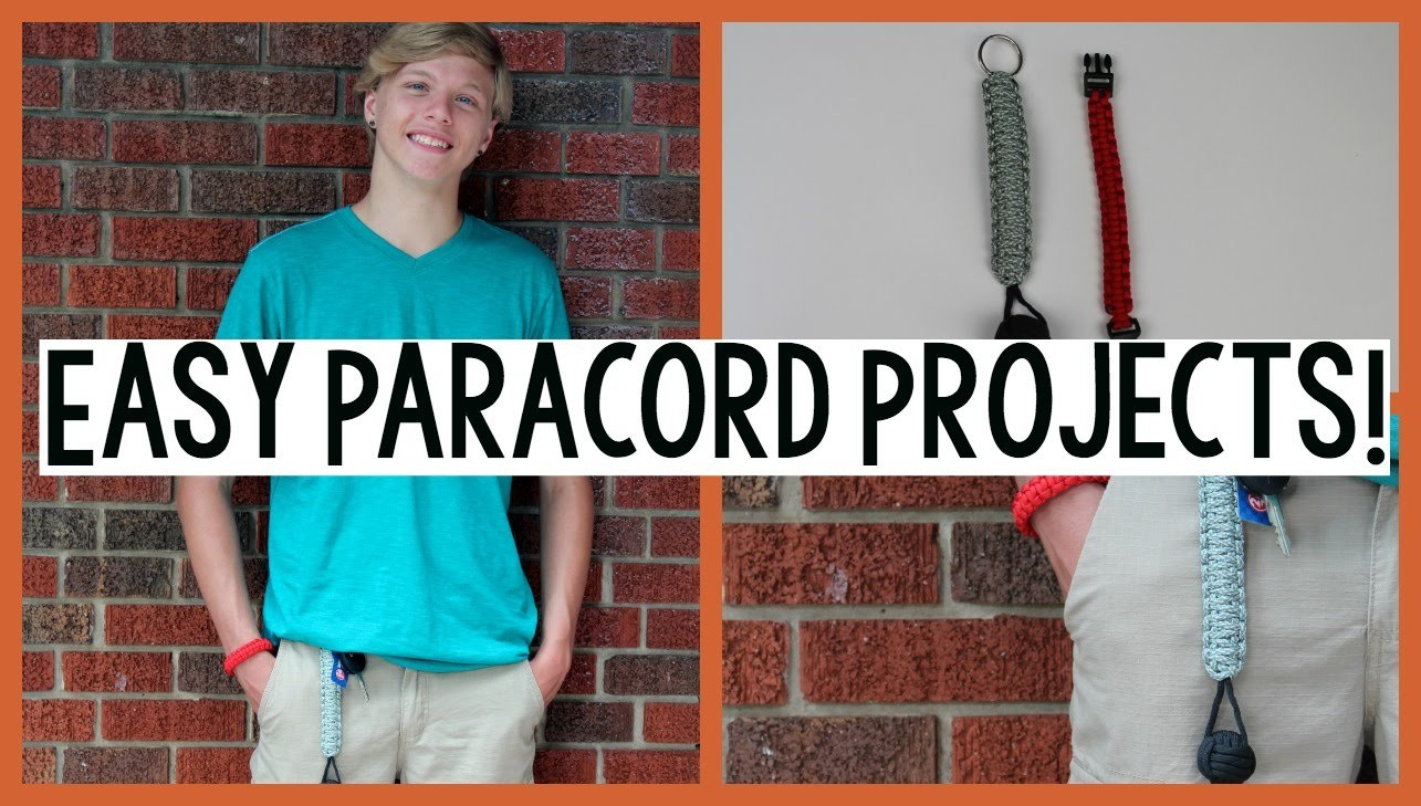 EASY PARACORD PROJECTS | MONKEY FIST + PARACORD BRACELET