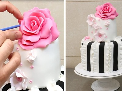 Easy Ruffle Fondant - Cake Decorating Ideas by CakesStepbyStep